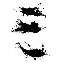 splashes pack vector image