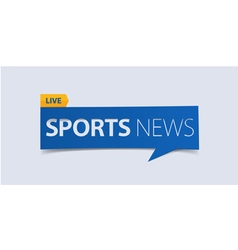 Sport News banner template isolated vector image