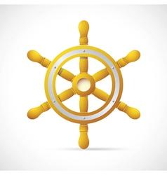 Steering wheel cartoon vector