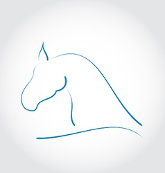 Stylazed emblem horse head vector image