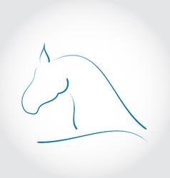 Stylized emblem horse head vector