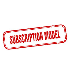 Subscription model stamp subscription model vector