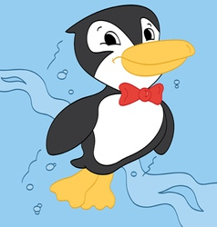 Swimming Penguin vector