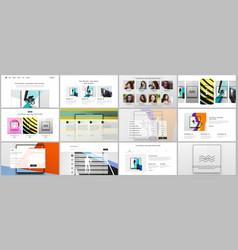 Templates for website design presentations vector
