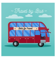 Travel Banner Tourism Industry Bus Travel vector image