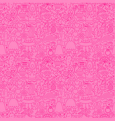 trendy girl line seamless pattern vector image