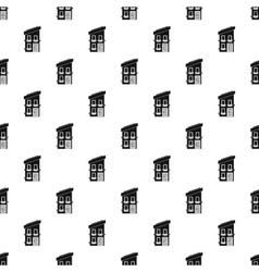 Two-storey house pattern simple style vector