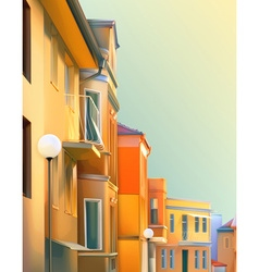 Urban landscape a typical residential street of vector image vector image