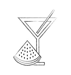 Watermelon cal fruit beverage vector