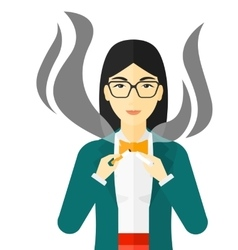 Woman quit smoking vector image