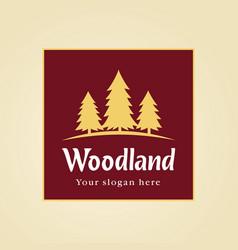 woodland park logo vector image