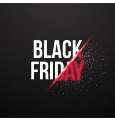 Black Friday Sale Exlosion Poster Huge November vector image vector image