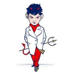 cartoon devil character vector image