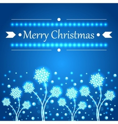 Christmas concept background with snowflakes vector image