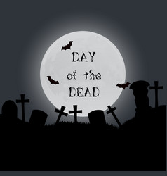 day of the dead background culture symbol holiday vector image