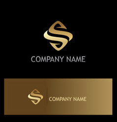 gold letter s company logo vector image