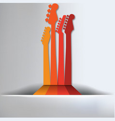 Guitar Abstract Background vector image vector image