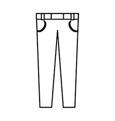 Male clothes fashion icon vector