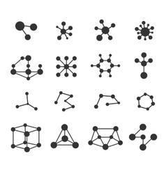 Molecules icons set vector image