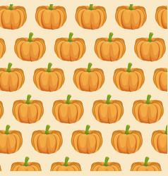 pumpkin nutrition seamless pattern image vector image
