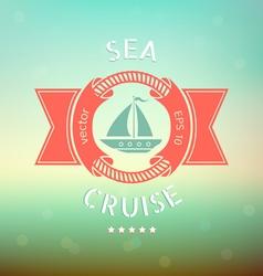 sea cruise boat vector image