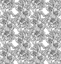 Seamless pattern of decorative black and white pop vector image