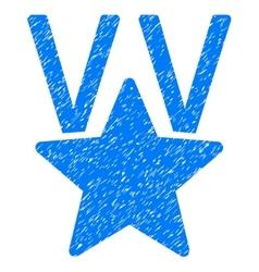 Star victory award grainy texture icon vector
