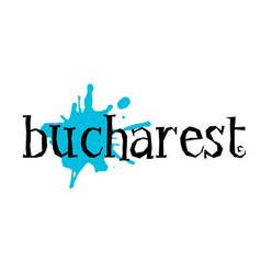 Bucharest sticker stamp vector
