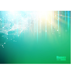 circuit blue lights background vector image