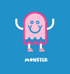 kids monster logo vector image vector image