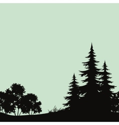 Seamless landscape night forest silhouettes vector image vector image