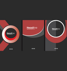black and red cover concept template for business vector image