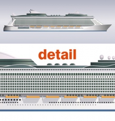 cruise ship illustration vector image vector image