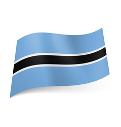 national flag of botswana white outlined vector image vector image