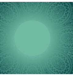Template frame design for card Ornamental round vector image