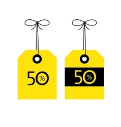50 OFF tag icon Black and vector image