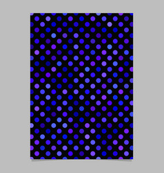 abstract dot pattern background poster template vector image