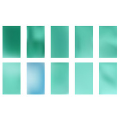Abstract green and blue blurred gradient vector