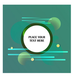 abstract line background with green background vector image