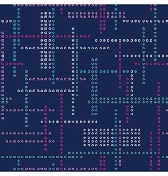 Abstract seamless techno pattern vector image