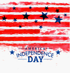 american independence day background with grunge vector image