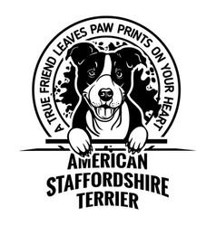 American staffordshire terrier dog - dog happy vector