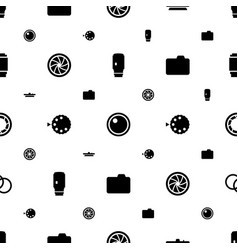 Aperture icons pattern seamless white background vector