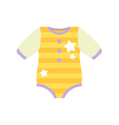 baby clothes romper suit vector image