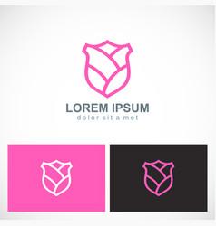 Beauty shield pink logo vector
