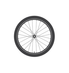 Bike wheel icon vector