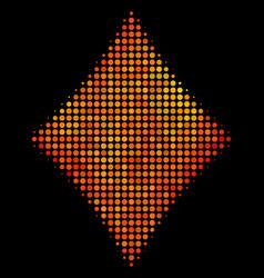 bright pixel diamonds suit icon vector image