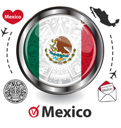 Card with mexico vector