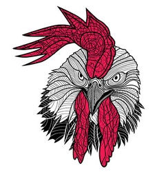 Chicken rooster head design for t-shirts isolated vector image