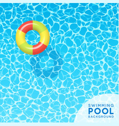 Clear blue swimming pool water background vector